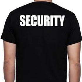 T'shirt Security korte mouw